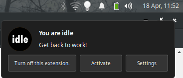 Chrome Inactivity Reminderto Alert After Specified Minutes of Inactivity