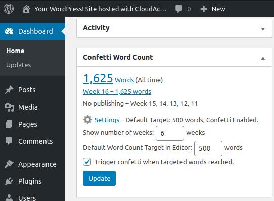 Confetti Word Count