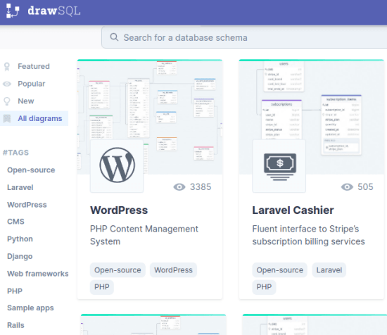 Drawsql main website