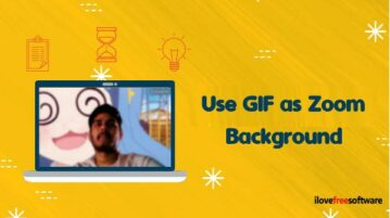 How to use GIF for Zoom Background