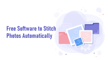 Stitch photos automatically with Photo Stitcher
