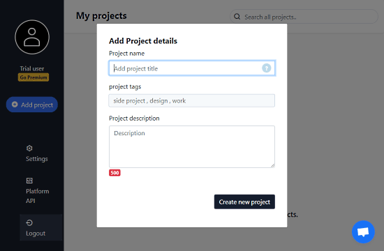 project manger configure for each user
