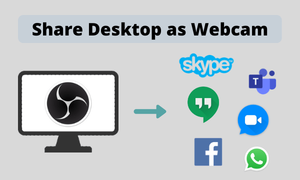 How to Share Desktop as Webcam in Zoom, Skype, Teams, Hangouts?