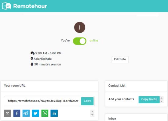 Remotehour set status