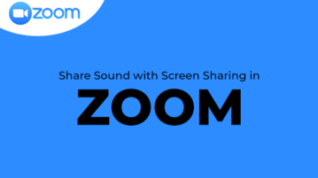Share Sound with Screen Sharing in Zoom