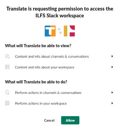 Translate Slack App