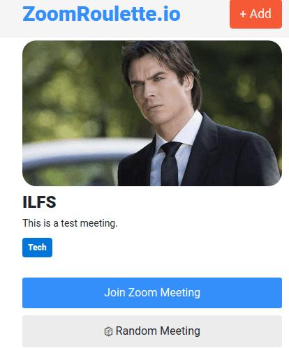 ZoomRoulette meeting random