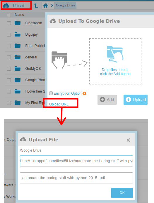 add file URL multcloud