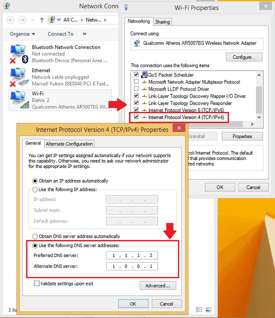 changin IP address in Windows