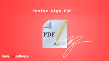 false sign pdf
