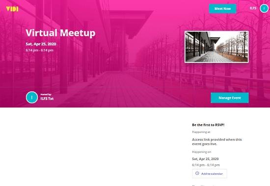 create virtual events