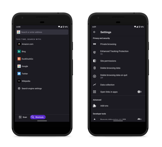 privacy-focused browser for android