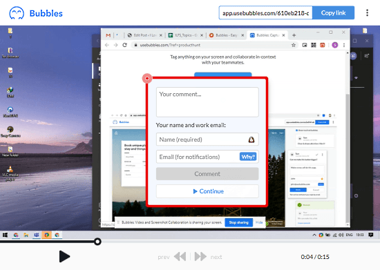 Collaborate on Videos by Sharing Screen Recording with Comments