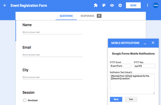 Receive Google Forms Submission Notifications on Phone 04
