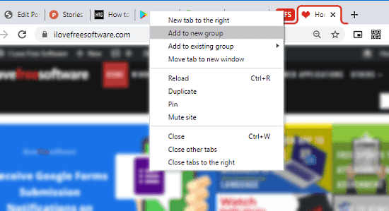 group tabs in chrome