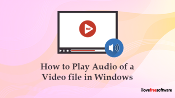 How to play only audio in video file