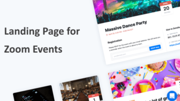 Create Landing Page for Zoom Event Free with RSVP, Tickets, Reminders