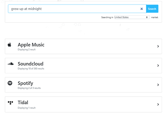 Free Music Search Engine for Spottily, Apple Music, Deezer, Tidal