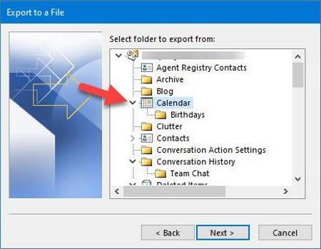Export Outlook Calendar to CSV