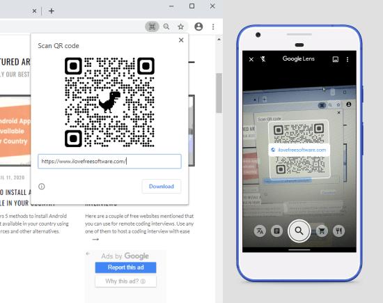 chrome qr code sharing feature