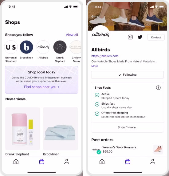 shopping Assistant App with Shop Pay, Order Tracking, Local Merchants