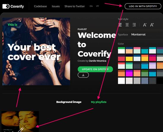 create Spotify playlist artwork
