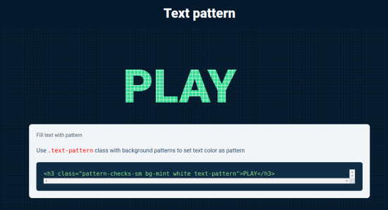 text pattern in action