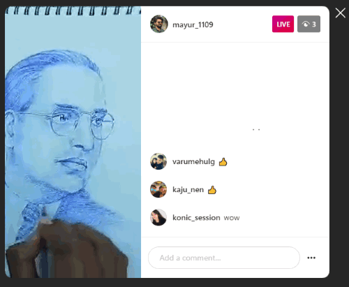 watch Instagram live videos on the web