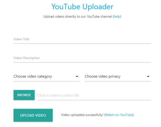 collaborative youtube uploader
