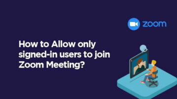 Allow Signed-in Users to join Zoom Meeting