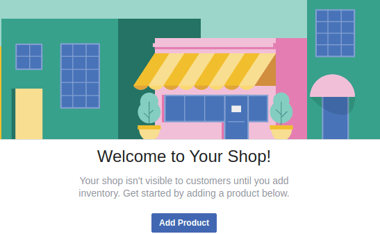 Facebook Shops Welcome