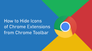 Hide Chrome Extensions from Chrome Toolbar