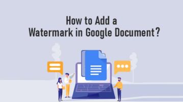 Add watermark in Google Documents