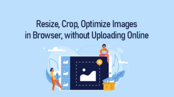 Optimize Images in Browser without uploading online
