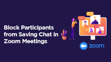 Block participants from saving chats in Zoom meeting