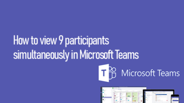 3X3 grid view in Microsoft Teams
