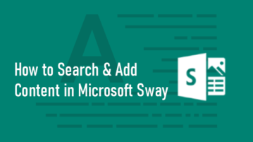 Search and Add Content to Sway