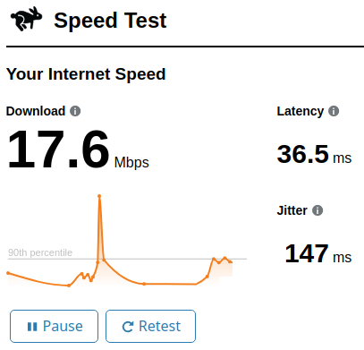 Using Internet Speed Test by Cloudflare to Check Upload Download Speed
