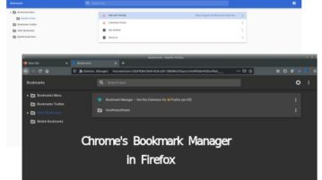 add chrome like bookmarks manager in firefox