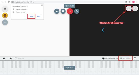 Start playing Piano virtually