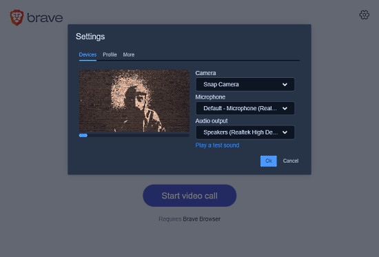 Free Private Group Video Calling by Brave Browser with Screen Sharing