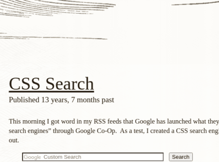 css search