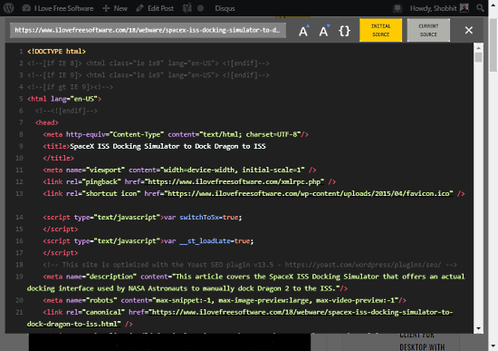 Enable Dark Mode for Page Source in Chrome