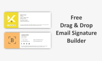 Design Email Signature Online with Free Drag and Drop Signature Builder