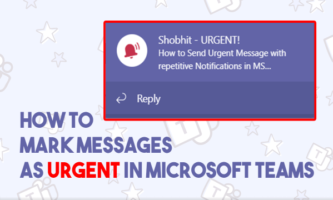How to Add Alert Notifications to MS Teams Messages?