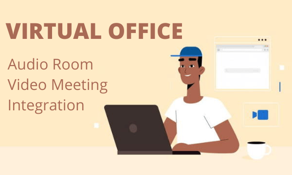 Virtual Office Platform with Audio Rooms, Avatar Builder, Slack, Spotify Integration