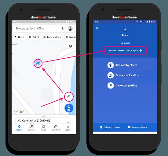 plus codes in google maps