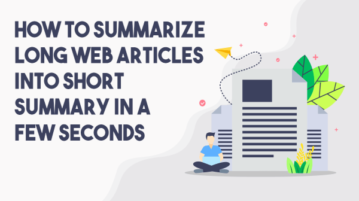 Create Summary of any Web Articles in Few Clicks: TLDR This