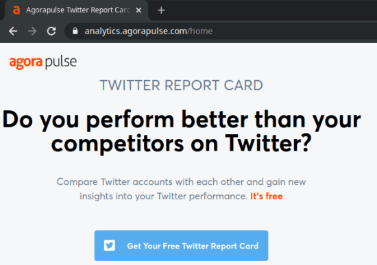 twitter report card authorize account