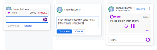 voice notes in google sheets